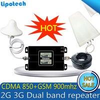 Repetidor GSM Booster!! Dual Band CDMA 850 GSM 900 Mobile Signal Repeater Repetidor de sinal de celular 850mhz Amplifier Set
