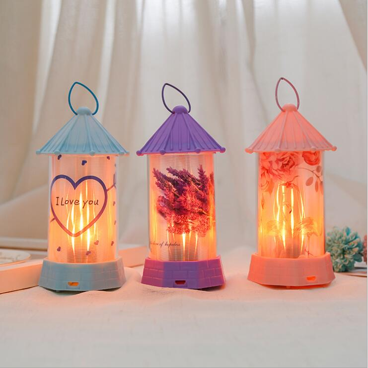 Christmas GiftVintage Christmas LED Lantern Decoration Hanging Candlestic Lanternk Christmas Xmas Gift  Party Supplied Ornaments
