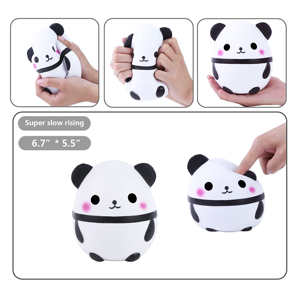 ISHOWTIENDA Jumbo Cute Panda Squishies squishy Slow Rising Kids Toys Doll Stress Relief Toy Stretchy Squeeze Toy Cream#25