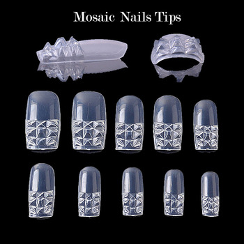 100Pcs White/ Clear /Natural/ Stiletto Long False Fake Nails Tips Manicure Artificial Nails Salon Half Cover Tips Маникюр