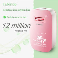 802 Pink Portable Negative Ion Generator Air Cleaner bult in micro fan Mini Air Purifier for home office