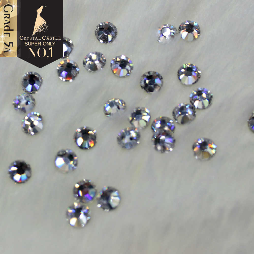 d6b8c2a3bffe40 Crystal Castle Hotfix Rhinestones For Clothes 5A Best Shiny Hot Fix Strass Hotfix  Clear White Stones