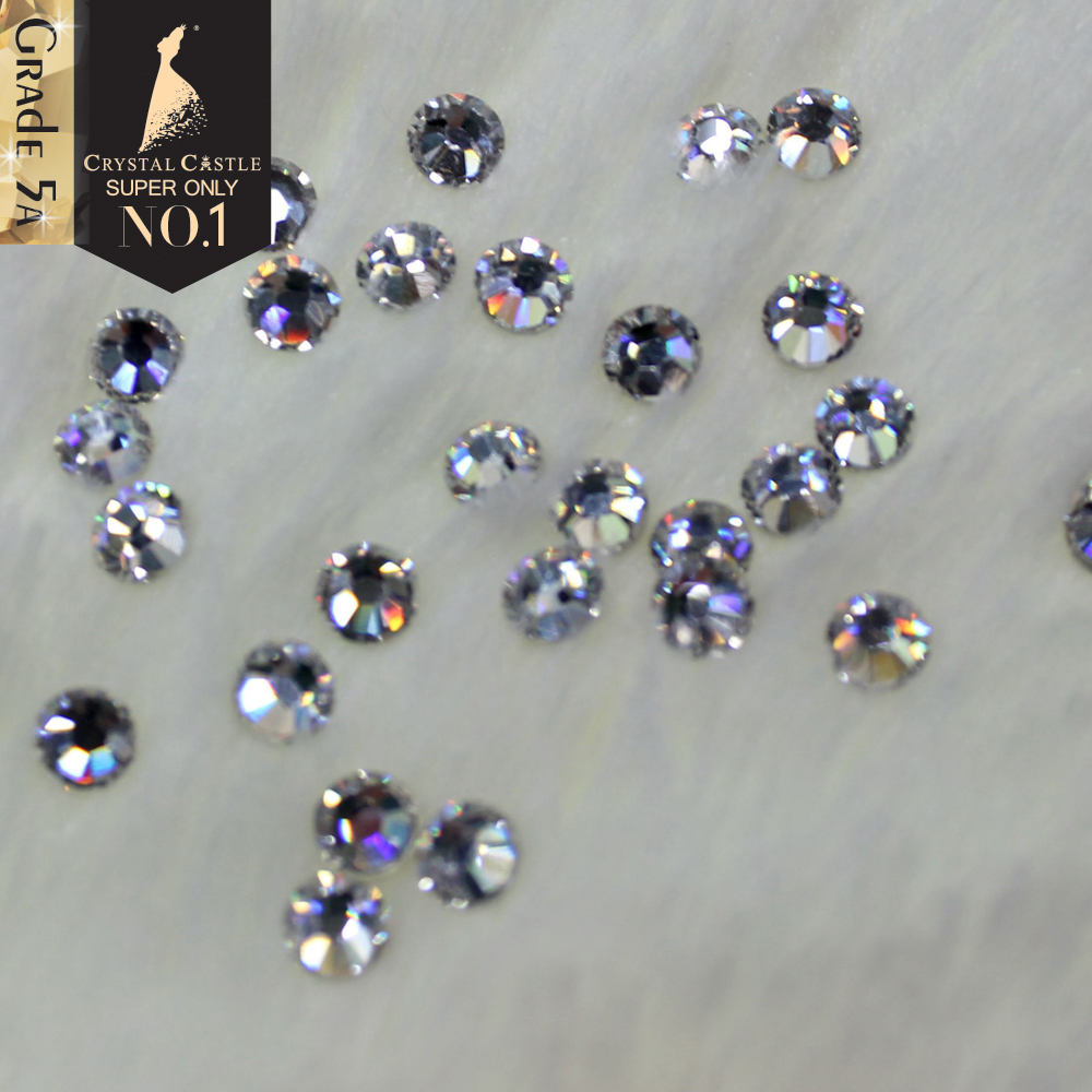 Crystal Castle Hotfix Rhinestones For Clothes 5A Best Shiny Hot Fix Strass Hotfix Clear White Stones And Crystals Rhinestone DIY