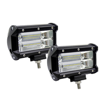 5 Inch 72W Four Rows Led Light Bar 6000K 10800LM Car Work Light Daytime Running Lights Outdoor Modified Off-Road Roof Light Bar