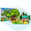 Starz DIY 3D бумаги аниме Boonir медведя головоломки игрушки статическая модель ремесло строительство комплекты подарки для детей