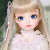 Free Shipping Fashion Style 1/4 BJD Doll BJD/SD Kid Delf Head Doll For Baby Girl Birthday Gift Include Eyes