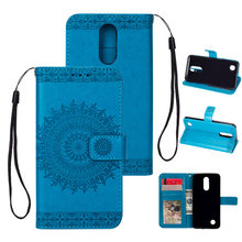 Luxury K8 2017 Case Flip Cover Case For LG K10 2017 Totem printing Kickstand PU Leather Phone Bag with Card Pocket K10 2017 Case