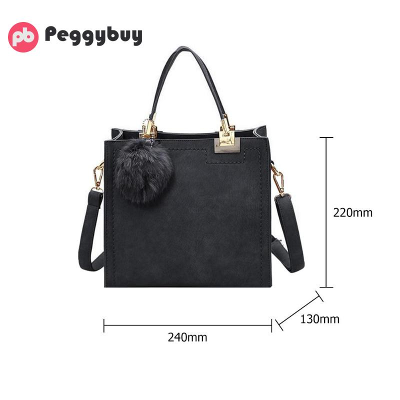 c9ff6a20c3 NEW HOT SALE handbag women casual tote bag female large shoulder messenger  bags high quality Suede Leather handbag with fur ball-in Top-Handle Bags  from ...