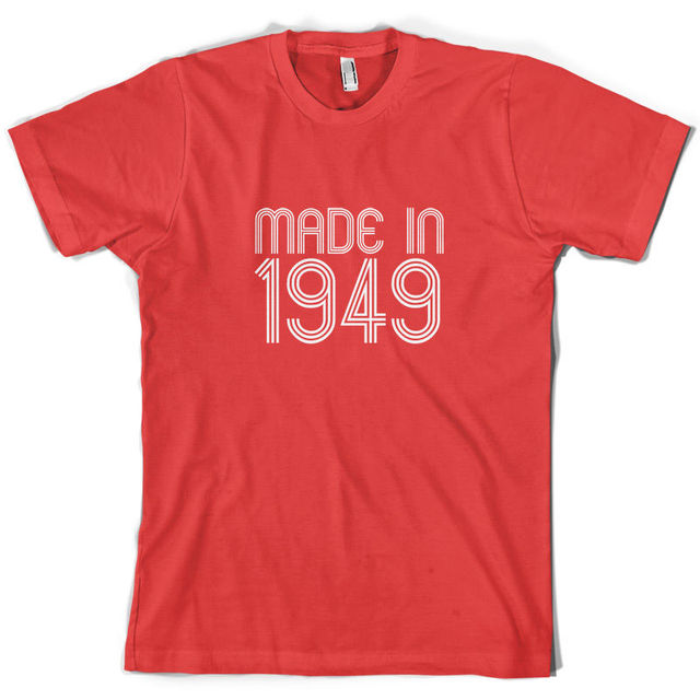 Made In 1949 Mens 65th Birthday Present Gift T Shirt 10 Colours