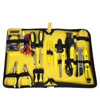 15 stücke Home Elektronik Reparatur werkzeuge set elektronische netzwerk tasche Kit telekommunikation Multimeter lötkolben zangen J6XY11-in Handwerkzeug-Sets aus Werkzeug bei