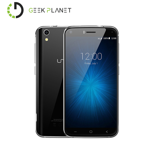 Original UMIDIGI Umi London Cell Phone MTK 1.3GHz Quad Core 5.0 Inch HD Screen 1G RAM 8G ROM Android 6.0 3G Smartphone