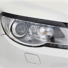 new version! Carbon fiber sticker for Volkswagen VW Tiguan forming light eyebrow eye line(China)