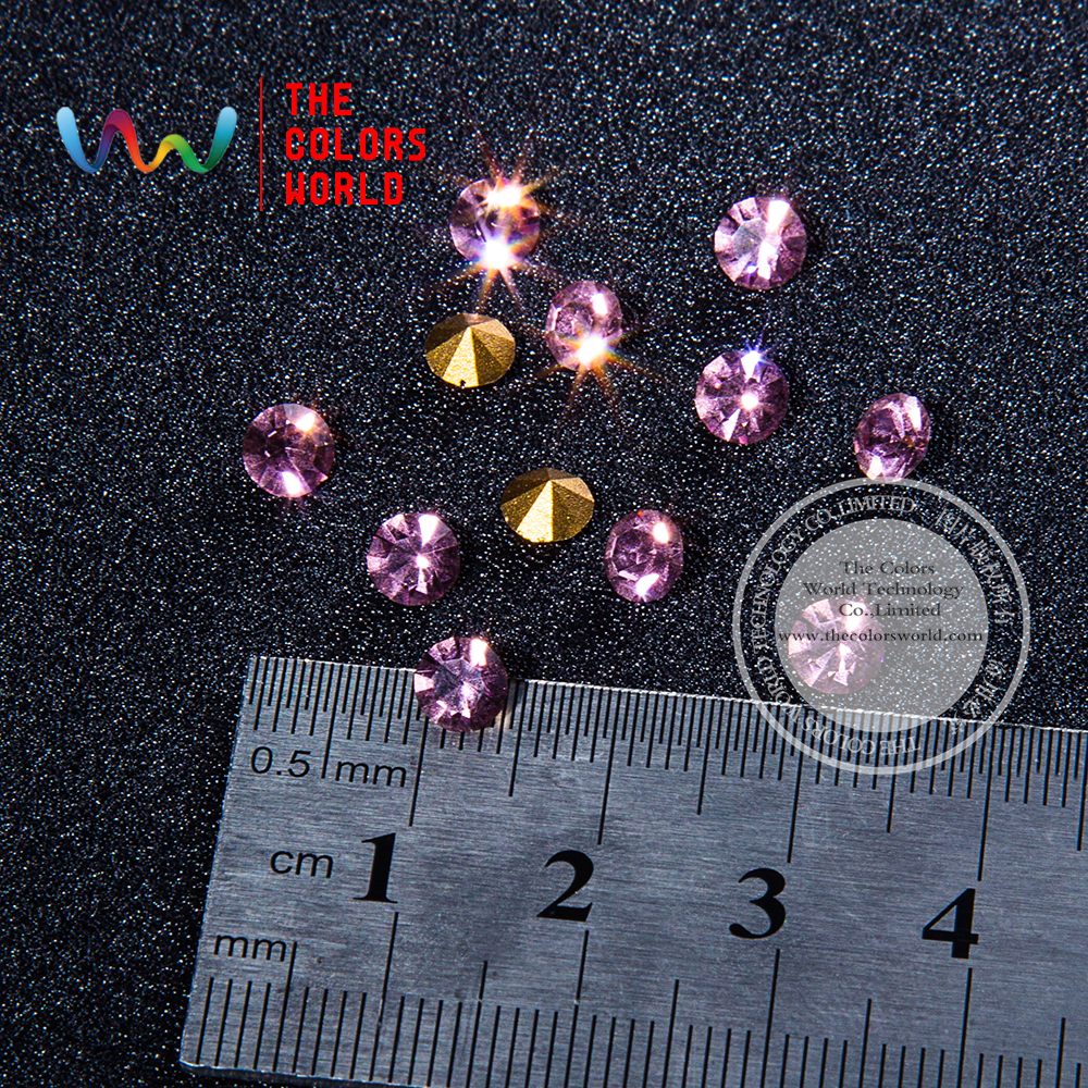 009  3D Light  Purple Color Gem Shape Clear Glitter Shinny Crystal Diamond for Nail Art Rhinestones Decorations DIY dn2 39 mix 2 3mm solvent resistant neon diamond shape glitter for nail polish acrylic polish and diy supplies1pack 50g