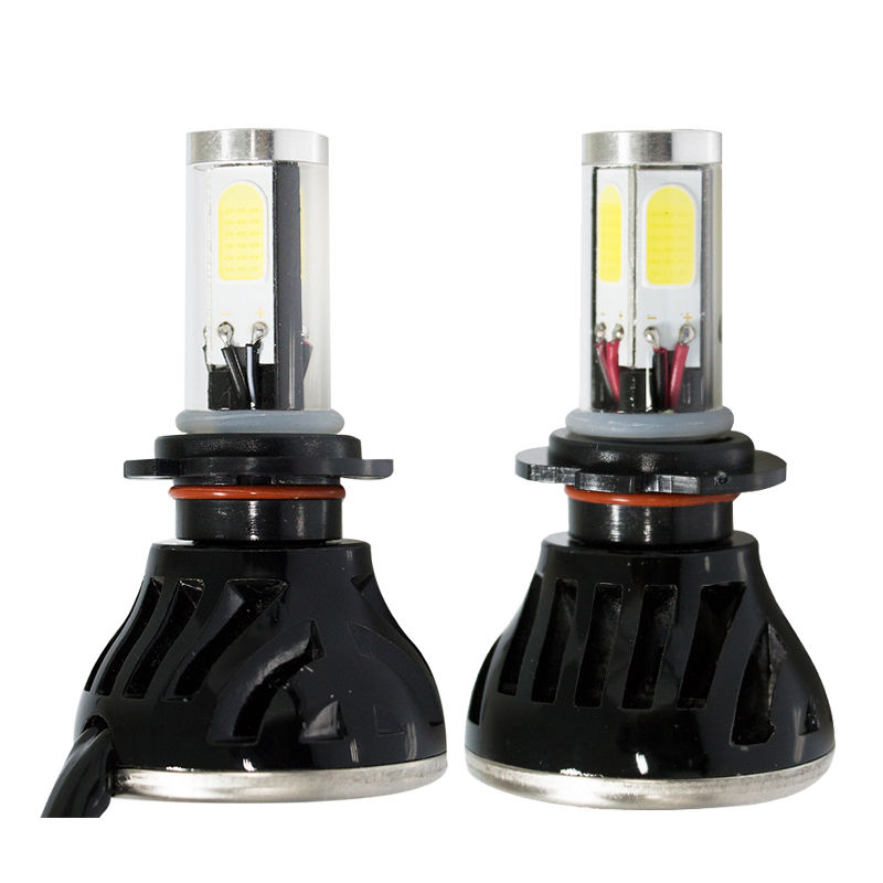 car h7 h4 led headlight bulbs hi lo Beam h4 led 80w 8000lm H8 9005 9006 9004 H1 H8  turbo led cob headlamp bulb H7 plug play  1 pair dc 9 36v h4 cob 80w led car headlight kit hi lo beam bulbs 6000k