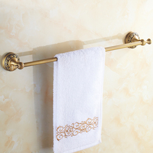 Antique Brass Towel Bar Bathroom Wall Mounted Single Rail Rack Holder Accessories KD927