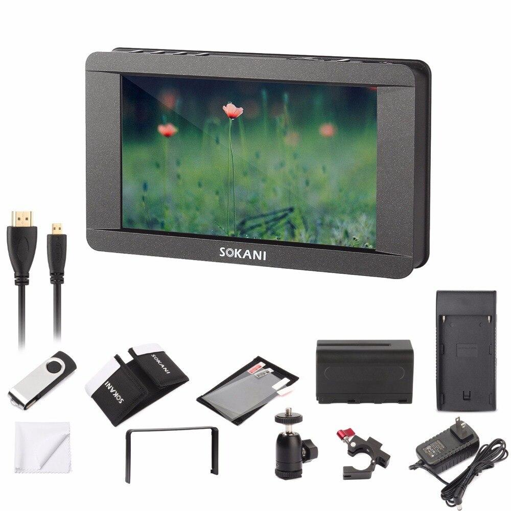 """Sokani SK 5 5 """"4 K Signal Unterstützung Touchscreen Monitor 1920x1080 HDMI Auf Kamera LCD Bereich kamera Video für Sony Canon Alle DSLR-in Fotostudio-Zubehör aus Verbraucherelektronik bei  Gruppe 1"""