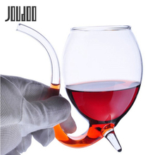 JOUDOO Special 300ml Red Wine Coffee Milk Mug with Straw Heat Resistant Tea Drink Transparent Drinkware Perfect Gift 35