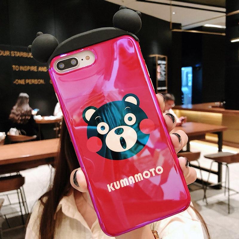 BTS BT21 KPOP Animal Character Smart Phone Cover Case for iphone X XR XS Max Cartoon Little bear rabbit phone Cover cases for iphone 8 7 plus 6 6S Plus case