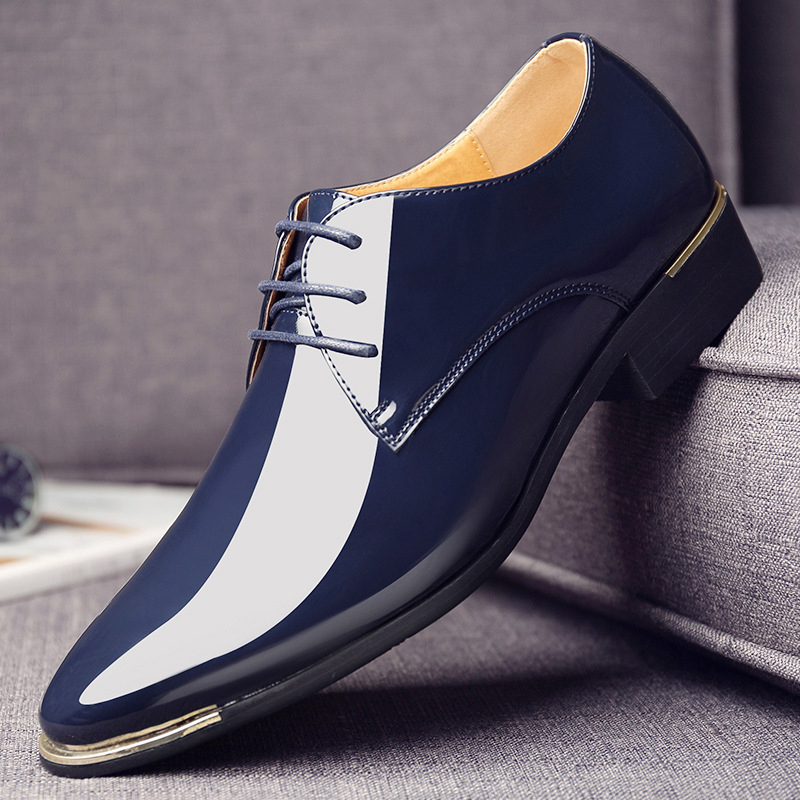 luxury Brand Men Classic Pointed Toe Dress Mens Lace up Patent Leather Black  Wedding Oxford Formal Shoes Big Size 38-48 - aliexpress.com - imall.com a4298a2acca5