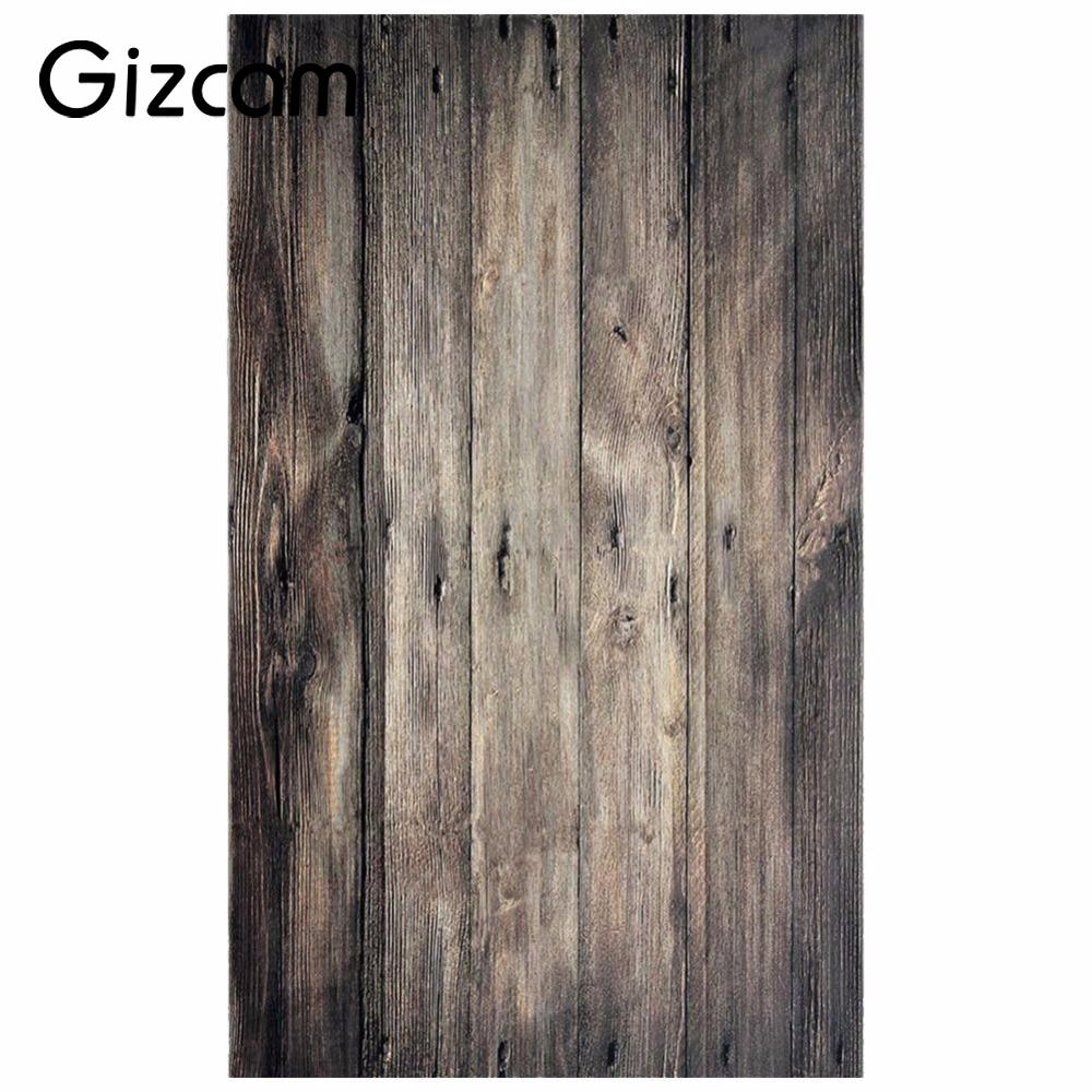 Gizcam New 0.9x1.5M 3x5FT Retro Wood Floor Vinyl Baby Photography Backdrop Photo Background Photographic Studio Kits Props Gift 3x5ft wood wall floor vinyl photography backdrop photo background studio props