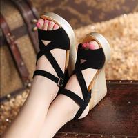 {D&Henlu} Female Shoes Ladies Sandals Women Heels Summer Woman Sandal Platform Open Toes Shoe Woman High Heel Women Shoes Summer