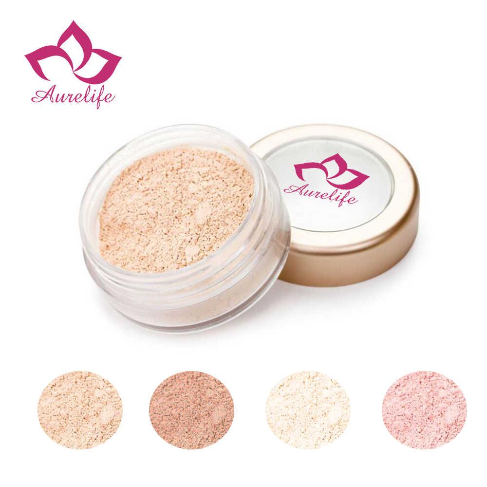 Aurelife сыпучий порошок водостойкий сыпучий порошок с светом и средними и глубокими порошками минеральный макияж