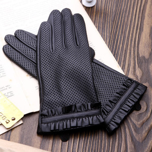 Image 5 - High Quality Elegant Women Leather Gloves Genuine Lambskin Leather Autumn Spring Winter Thermal Hot Trendy Female Glove G565
