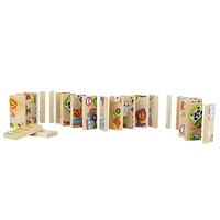 Unisex Baby Kid Brinquedos Pequeno Trem Blocos de Dominó K6003 Brinquedo Seguro Dominó de madeira Brinquedos Educativos Presente para Chilldren Acima de 3 Anos de Idade