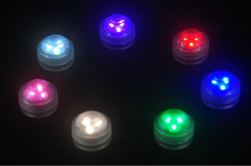 10pcs / lot LED lampu hiasan untuk tanglung kertas Super Bright 3 LED - Pencahayaan perayaan - Foto 6