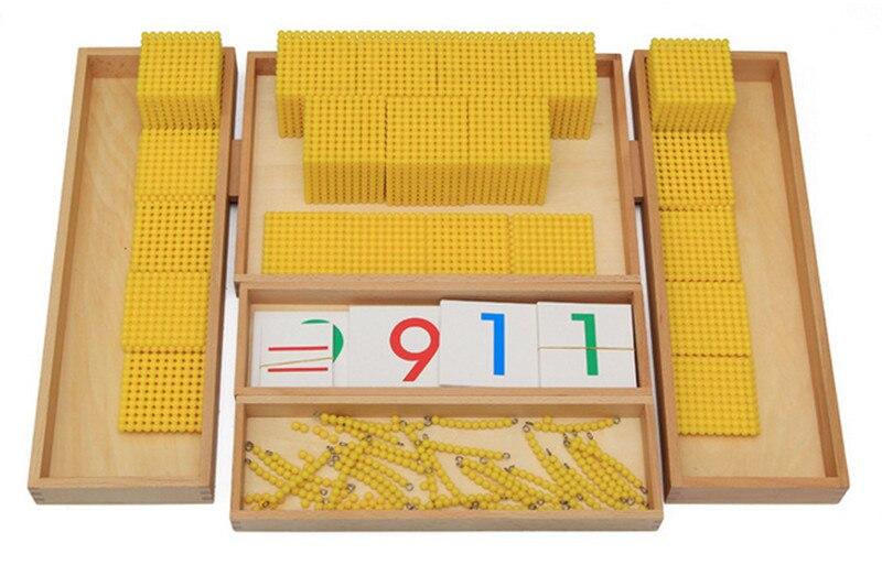 Nouveau Montessori bébé jouets banque jeu ensemble Maths bébé jouets éducatifs bébé cadeaux