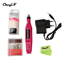 CkeyiN Electric Professional Nail Drill Manicure Machine Nail File Art Pen Polish Drill Equipment+Brushes Manicure Pedicure Tool