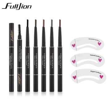 new Waterproof Eyebrow Pencil With Eye Brow Card Tool Lady Rotating Eyebrow Pencil 3Eyebrow Shaping  DIY Eyebrow Pen Makeup Set