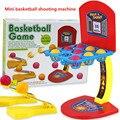 Mármoles de colores juguetes de baloncesto, juegos de mesa, juegos de práctica, plástico mini máquina de baloncesto