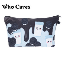 Women Cosmetic Bag Handbags Maquiagem Makeup Bags Milk and Yolo Cookie neceser Organizer Pencil Case Travel Bags Pencil Bag