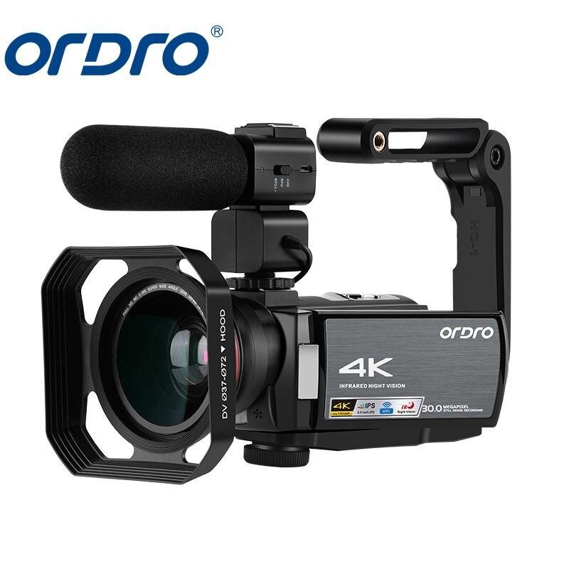 AE8 caméscope numérique 4K Sport caméra vidéo numérique mise à niveau 3.0 IPS caméra Full HD IR Vision nocturne infrarouge avec Microphone