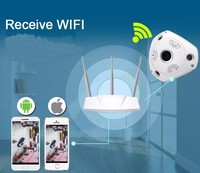 Wifi IP Wide Angle VR Camera Wireless 3MP HD Smart 360 Degree Fishey Panoramic Network CCTV
