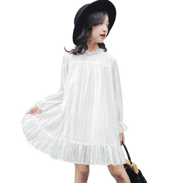 Simple Long White Dress for Teen Girl