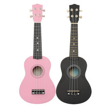 Zebra 21″ Black/Pink Maple Basswood Soprano Ukulele Uke Nylon 4 Strings 12 Fret Acoustic Bass Guitarra Guitar Musical Instrument