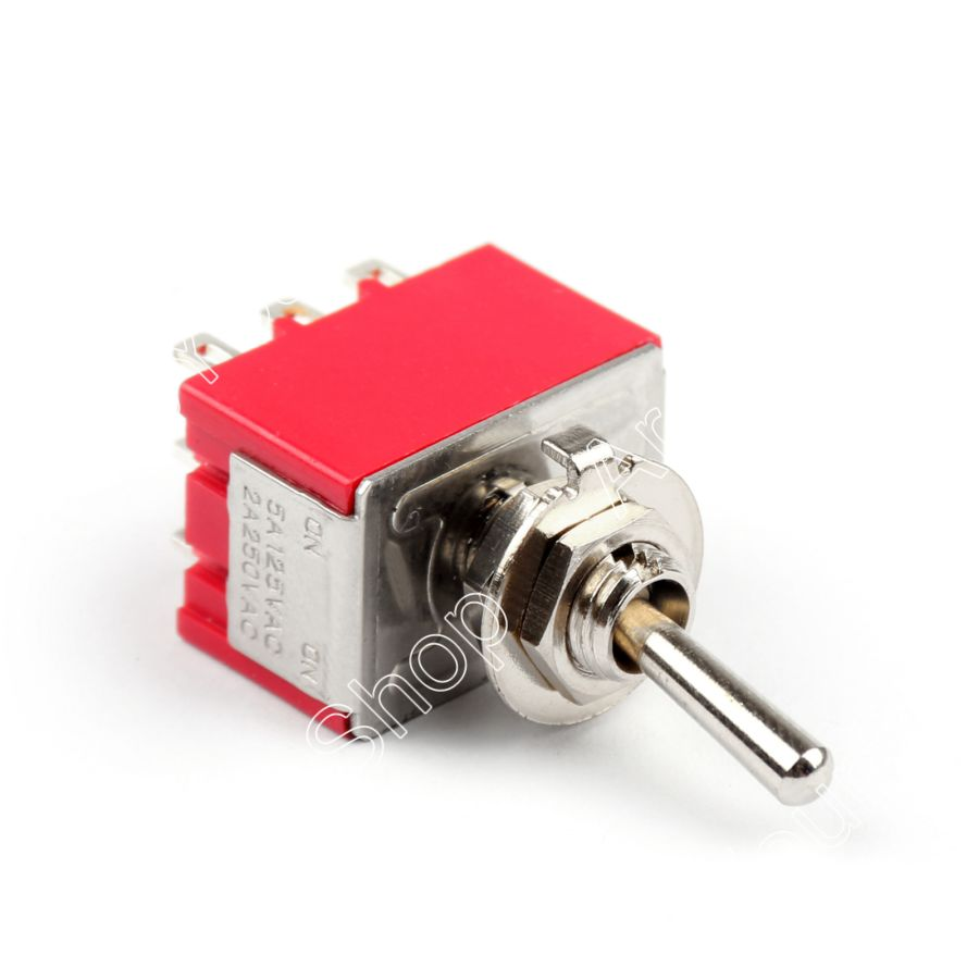 Areyourshop 2Pcs/lot Mini 6mm MTS-302 Toggle Switch 9 Pin 2 Position ON/ON 5A/125VAC 2A/250VAC Switc