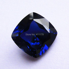 brilliant blue stones faceted beads for jewelry making stones for diy corundum stone square shape