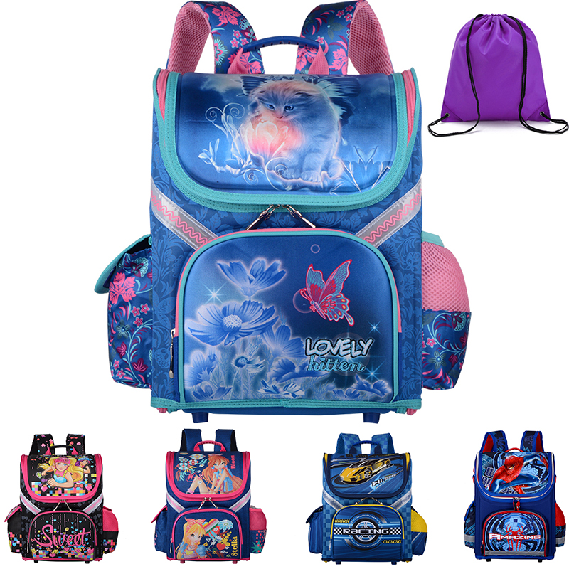 High quality 20models Children School Bags Butterfly Boys School Backpack Girls Orthopedi Cantifreezing  Waterproof SchoolbagHigh quality 20models Children School Bags Butterfly Boys School Backpack Girls Orthopedi Cantifreezing  Waterproof Schoolbag