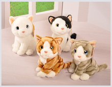 high quality goods about 18cm simulation cat plush toy squatting cat soft doll, baby toy birthday present Xmas gift c752