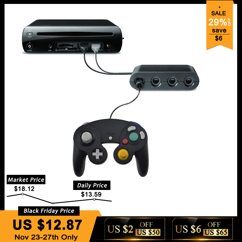 2 In 1 GameCube Controller Adapter Converter For Wii U PC For WiiU For Nintend Switch For NS