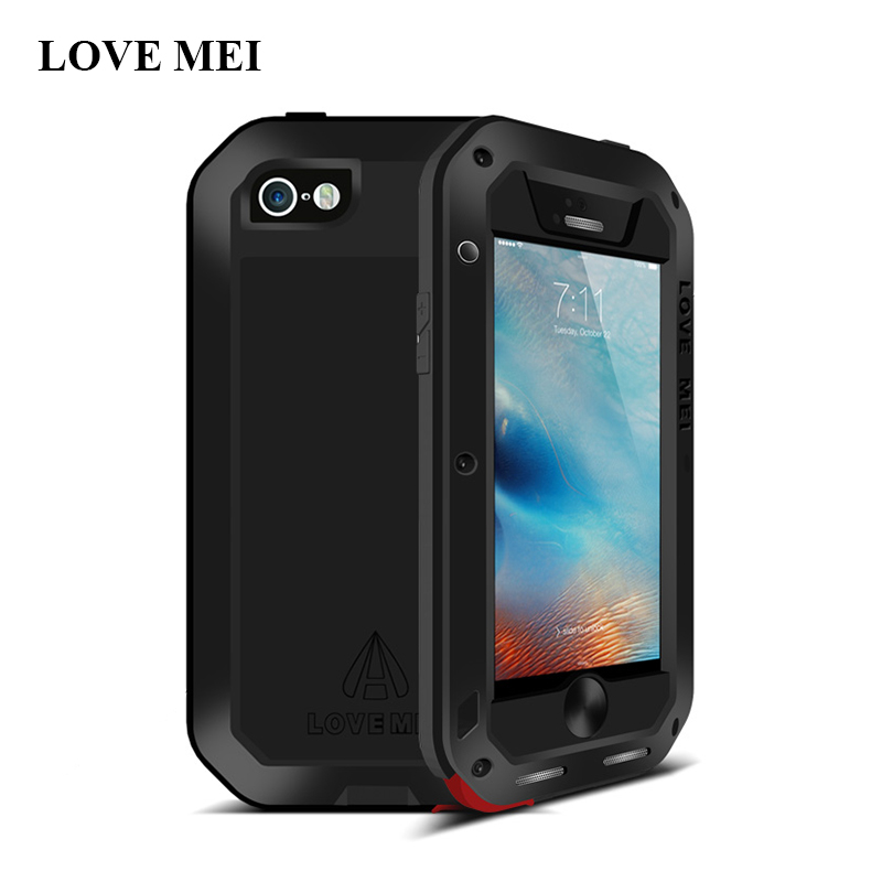 Image 5 - Love Mei Metal Case For iPhone 5 5S SE Shockproof Phone Cover For