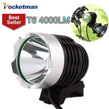 4000 Lumen CREE XM-L T6 LED Bicycle Headlight Lamp For Bike Cycling Bike Bicycle 3 Mode Waterpoof Front Light & USB