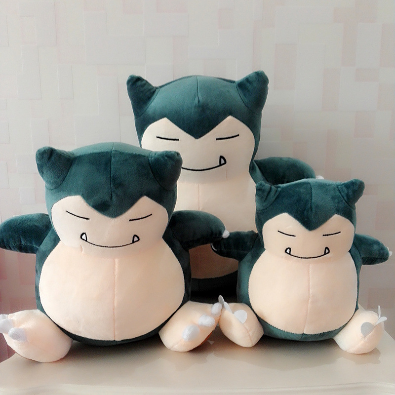 1pcs Big Size Snorlax Plush Stuffed Toy Cute Plush Toy Doll For Kid's Birthday Gift 30/50cm