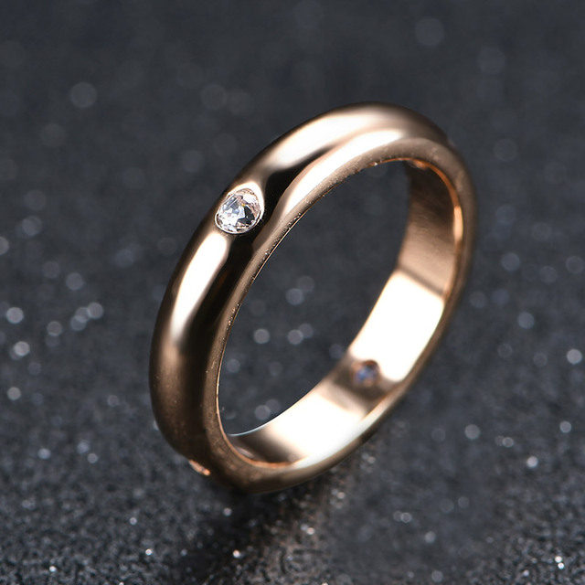 USTAR AAA Zircon Rings for women Rose gold color Wedding rings female anel Austrian Crystals Jewelry top quality