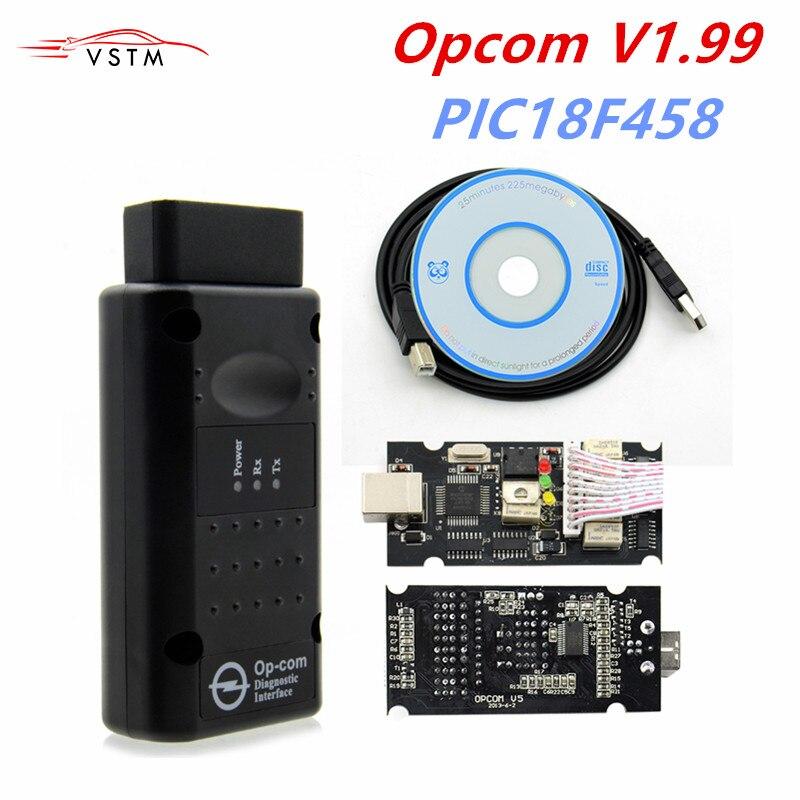 OP com v1.99 V1.59 1.70 1.781.95 com PIC18F458 Chip Ferramenta de Diagnóstico OpCom Can Bus Ferramenta de Diagnóstico para opel