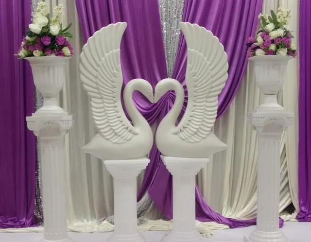 wholesale 20pcs creative plastic white swan wedding birthday party decoration prop wedding photography supplies wedding supplies - Aliexpress Mariage