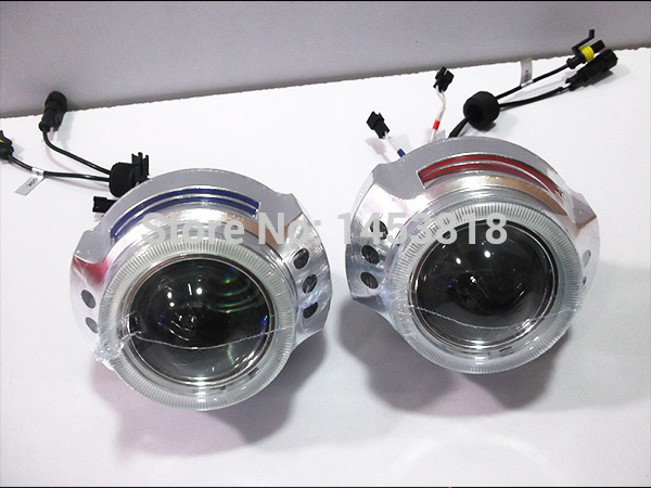 3.0HQL 4300K 6000K 8000K H7 HB3 9006 9005 H4 H1 CCFL Double Angel Eye HID  Lens Headlight Projector 3.0'' inch